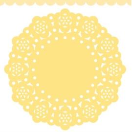 Doodlebug Mini Paper Doilies 7.5cm - Bumblebee (5 stuks)