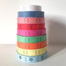 Tickets (10 stuks) in diverse kleuren