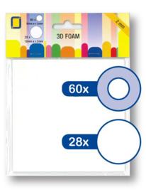 JEJE Produkt 3D Foam Round ⌀6mm & ⌀12mm x 2mm