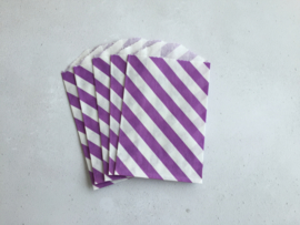 Small Bags Streep Diagonaal Paars (5 stuks)