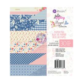 Prima Marketing Julie Nutting Frayed Denim 6x6 Paper Pad