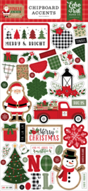 Jingle All The Way Chipboard Accents