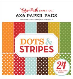 Dots & Stripes Fall 6x6 Paper Pad
