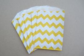 Small Bags Chevron Geel (5 stuks)