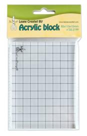 LeCrea Acrylic Clear Stamp Block 85x115mm
