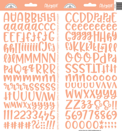 Doodlebug Design Coral Abigail Stickers (5810)