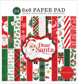 """Dear Santa 6x6"""" Paper Pad"""