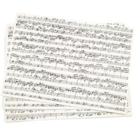 Papier met muzieknoten (A4)