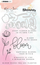StudioLight Stamp & Die Cut A6 Karin Joan Blooming Coll.01