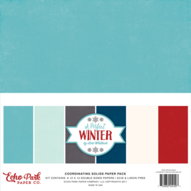 A Perfect Winter Solids Paper Pack