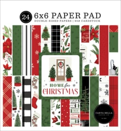 """Home for Christmas 6x6"""" Paper Pad"""