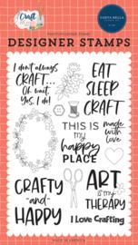 "Crafty & Happy 4x6"" Stamp Set"