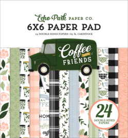 """Coffee and Friends 6x6"""" Paper Pad"""