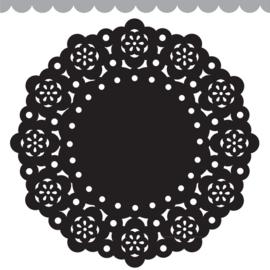 Doodlebug Mini Paper Doilies 7.5cm - Beetle Black (5 stuks)