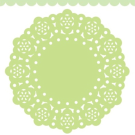 Doodlebug Mini Paper Doilies 7.5cm - Limeade (5 stuks)