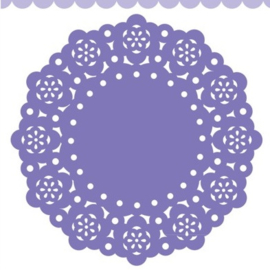 Doodlebug Mini Paper Doilies 7.5cm - Lilac (5 stuks)