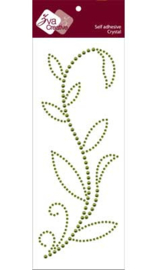 Leaved Branch Rainy Vine Olive Pearl/Crystal (CRB-03CB-122)