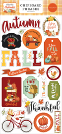 Welcome Autumn Chipboard Phrases