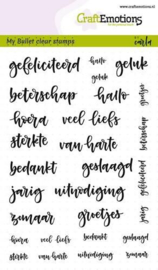 CraftEmotions Clear Stamps A6 - Bullet Journal - Tekst diverse 5-10mm (NL)