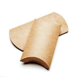 Kraft gondeldoosje (7.6x2.5x12.7 cm)