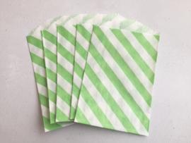 Small Bags Streep Diagonaal Groen (5 stuks)