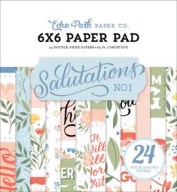 "Salutations 6x6"" Paper Pad"