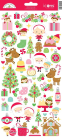 Doodlebug Design Christmas Magic Icons Stickers (6559)