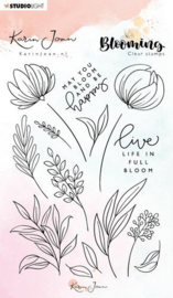 StudioLight Stamp A6 Karin Joan Blooming Collection nr.04