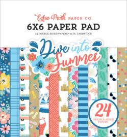 "Dive into Summer 6x6"" Paper Pad"