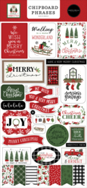 Home for Christmas Chipboard Phrases