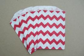 Small Bags Chevron Rood (5 stuks)
