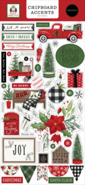 Home for Christmas Chipboard Accents