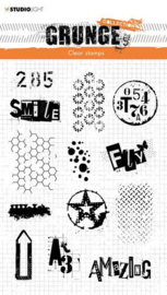 StudioLight Clearstempel Grunge Collection 3.0 nr.408 - STAMPSL408