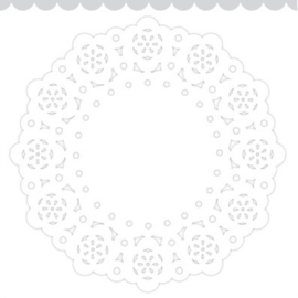 Doodlebug Mini Paper Doilies 7.5cm - Lily White (5 stuks)