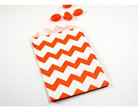 Small Bags Chevron Oranje (5 stuks)