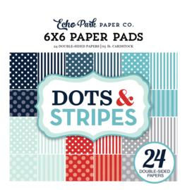 Winter Dots & Stripes 6x6 Paper Pad