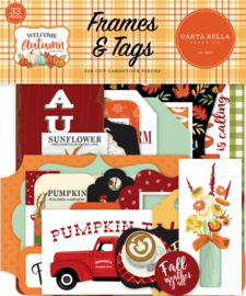 Welcome Autumn Frames & Tags