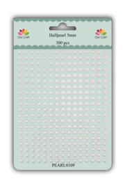 Dixi Craft Adhesive Halfpearl 5mm White