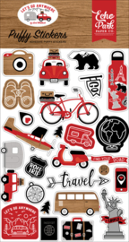 Let's Go Anywhere Puffy Stickers