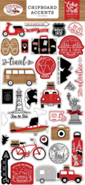 Let's Go Anywhere Chipboard Accents