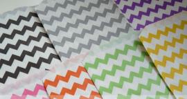 Medium Bags Chevron - diverse kleuren (per stuk)