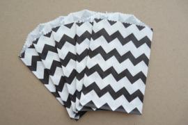 Small Bags Chevron Zwart (5 stuks)