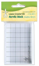 LeCrea Acrylic Clear Stamp Block 55x85mm