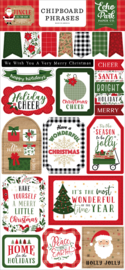Jingle All The Way Chipboard Phrases
