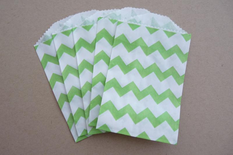 Small Bags Chevron Groen (5 stuks)
