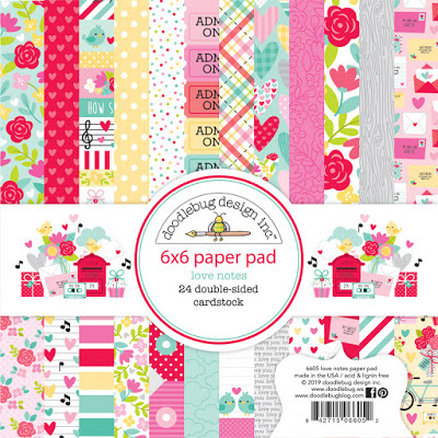 Doodlebug Love Notes 6x6 Paper Pad (6605)