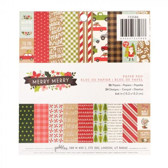 Pebbles Merry Merry 6x6 Paper Pad