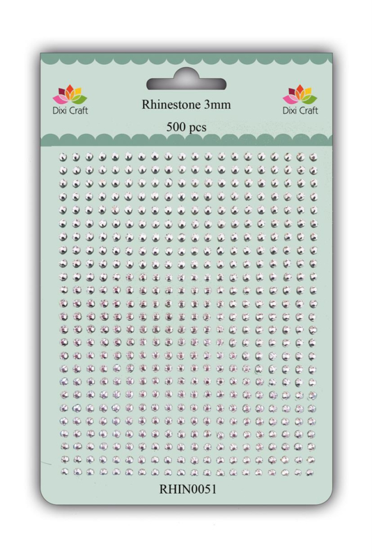 Dixi Craft Adhesive Rhinestone 3mm Silver