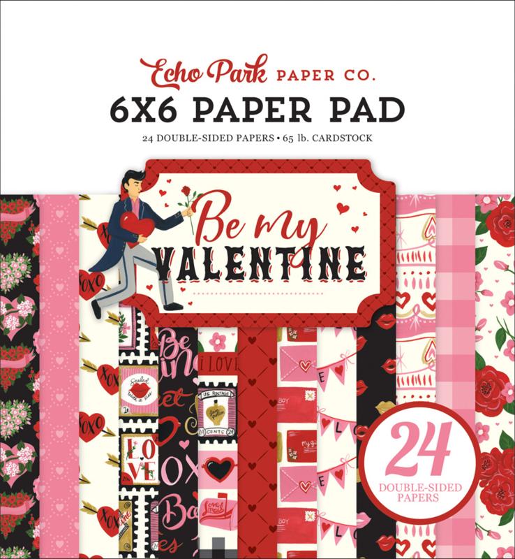 "Be My Valentine 6x6"" Paper Pad"