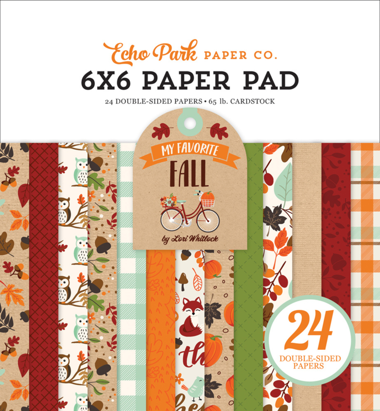 "My Favorite Fall 6x6"" Paper Pad"
